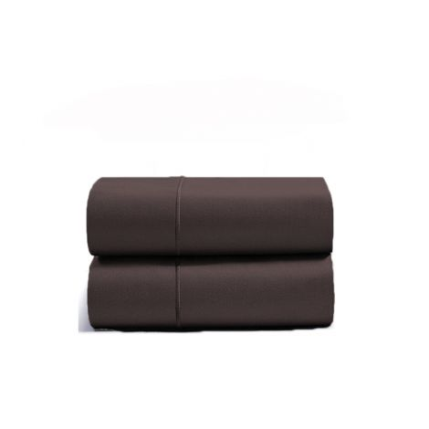 luxurious-single-embroidery-border-sateen-pillowcases-chocolate-solid