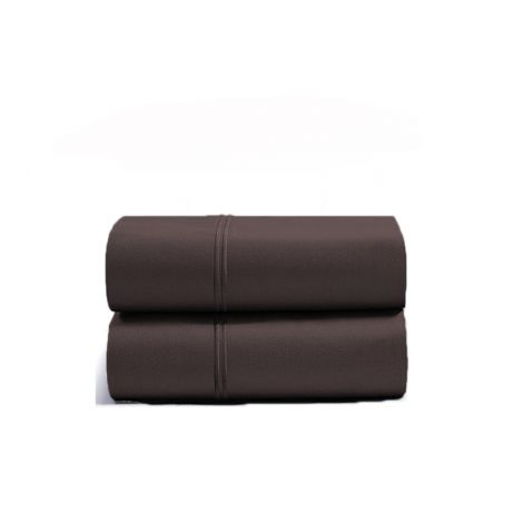 luxurious-double-embroidery-border-sateen-pillowcases-chocolate-solid