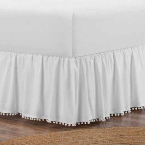 cotton-sateen-gathered-pom-fringe-boho-bed-skirt