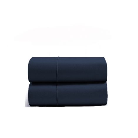 luxurious-single-embroidery-border-sateen-pillowcases-navy-blue-solid