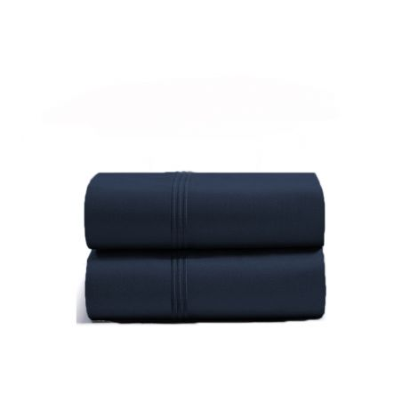 luxurious-triple-embroidery-border-sateen-pillowcases-navy-blue-solid