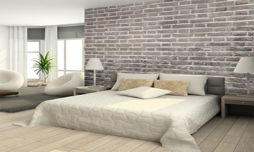 brick wallpaper decor bedroom