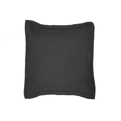 luxurious-single-embroidery-border-sateen-euro-sham-black-solid