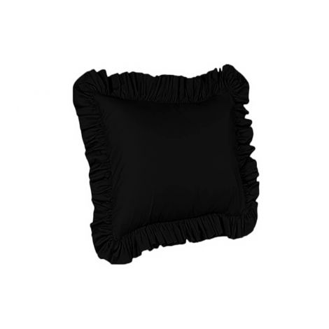 sateen-ruffle-euro-sham-solid-Black Solid
