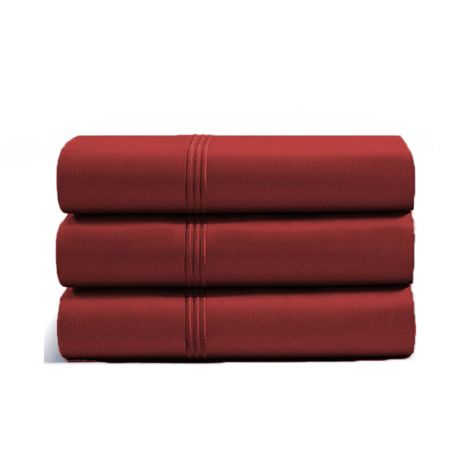 luxurious-triple-embroidery-border-sateen-flat-sheet-burgundy-solid