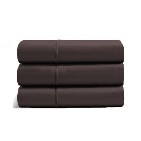 luxurious-single-embroidery-border-sateen-flat-sheet-chocolate-solid