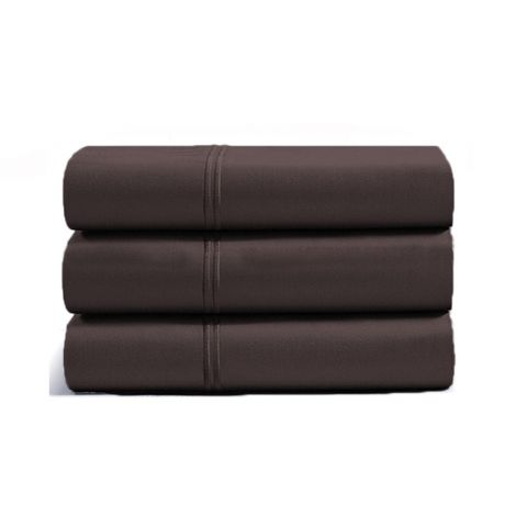 luxurious-double-embroidery-border-sateen-flat-sheet-chocolate-solid