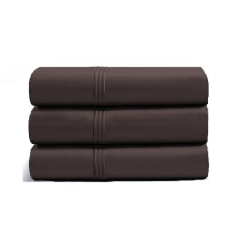 luxurious-triple-embroidery-border-sateen-flat-sheet-chocolate-solid
