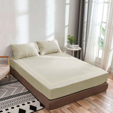 luxurious-sateen-fitted-sheet-double-embroidery-border-ivory