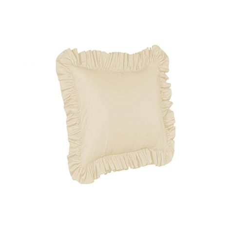 sateen-ruffle-euro-sham-solid-Ivory Solid