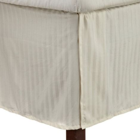 300 Thread Count Sateen Stripe Cotton Tailored Bed Skirt
