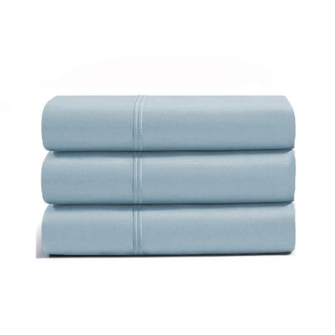 luxurious-double-embroidery-border-sateen-flat-sheet-light-blue-solid