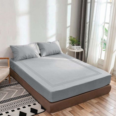 luxurious-sateen-fitted-sheet-triple-embroidery-border-light-grey-solid