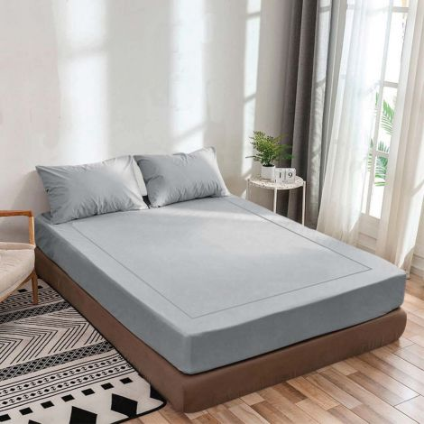 light-grey-luxurious-sateen-fitted-sheet-single-embroidery-border