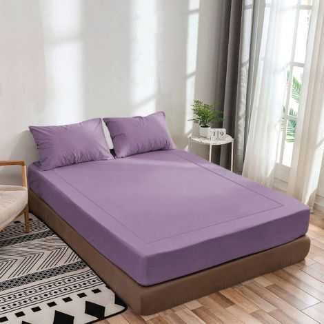 lilac-luxurious-sateen-fitted-sheet-single-embroidery-border