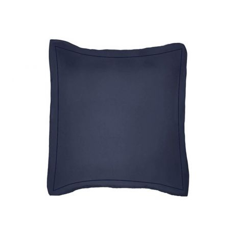 luxurious-single-embroidery-border-sateen-euro-sham-navy-blue-solid