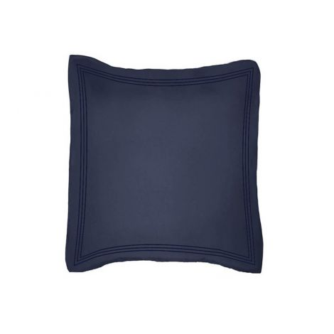 luxurious-triple-embroidery-border-sateen-euro-sham-navy-blue-solid
