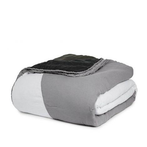 White & Grey Pieced Comforter