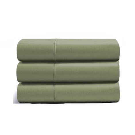 luxurious-single-embroidery-border-sateen-flat-sheet-sage-solid
