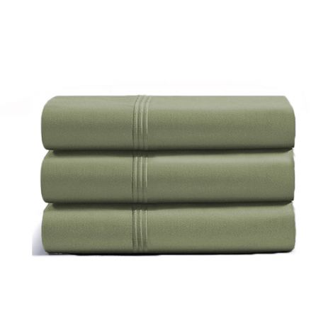luxurious-triple-embroidery-border-sateen-flat-sheet-sage-solid