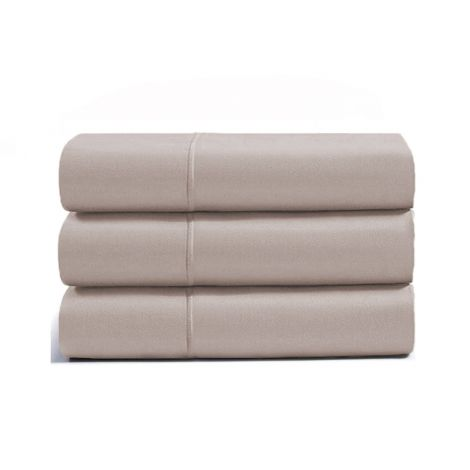 luxurious-single-embroidery-border-sateen-flat-sheet-taupe-solid