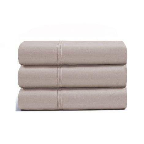 luxurious-double-embroidery-border-sateen-flat-sheet-taupe-solid