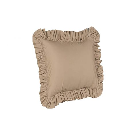 sateen-ruffle-euro-sham-solid-Taupe Solid
