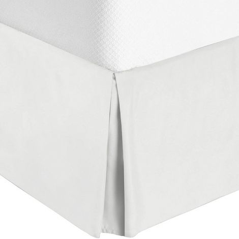400 Thread Count Sateen Solid Cotton Tailored Bed Skirt
